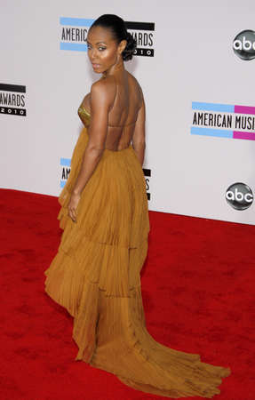 american music: Jada Pinkett Smith at the 2010 American Music Awards held at the Nokia Theatre L.A. Live in Los Angeles on November 21, 2010. Editorial