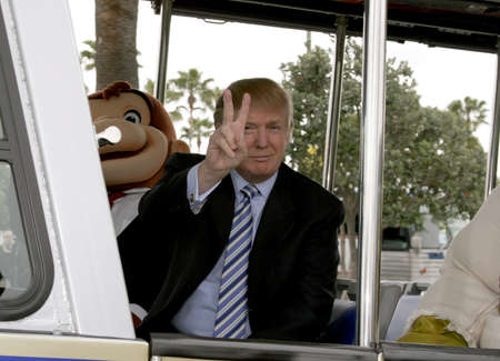 donald: UNIVERSAL CITY, CA - MARCH 10, 2006: Donald Trump kicks off the sixth season casting call search for The Apprentice held in the Universal Studios Hollywood, USA on March 10, 2006.