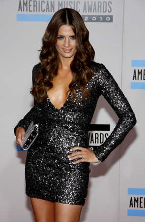 american music: Stana Katic at the 2010 American Music Awards held at the Nokia Theatre L.A. Live in Los Angeles on November 21, 2010.