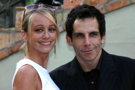 christine: Ben Stiller and Christine Taylor at the 2004 Wine Tasting Event: Vintage Hollywood held at the Private residence in Brendwood on June 5, 2004. Editorial