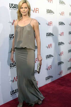 kodak: Charlize Theron at the 2004 AFI Lifetime Achievement Award held at the Kodak Theatre in Hollywood on June 10, 2004.