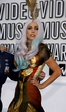 gaga: Lady Gaga at the 2010 MTV Video Music Awards held at the Nokia Theater L.A. Live in Los Angeles on September 12, 2010.
