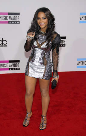 american music: Christina Milian at the 2010 American Music Awards held at the Nokia Theater L.A. Live in Los Angeles on November 21, 2010. Editorial
