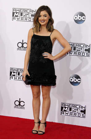 hale: Lucy Hale at the 2014 American Music Awards held at the Nokia Theatre L.A. Live in Los Angeles on November 23, 2014 in Los Angeles, California. Editorial