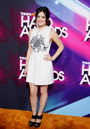 hale: Lucy Hale at the  2012 Halo Awards held at the Hollywood Palladium in Hollywood on November 17, 2012. Editorial