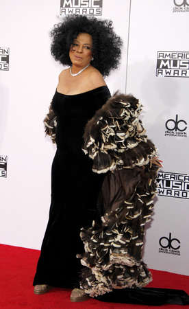 american music: Diana Ross at the 2014 American Music Awards held at the Nokia Theatre L.A. Live in Los Angeles on November 23, 2014 in Los Angeles, California.