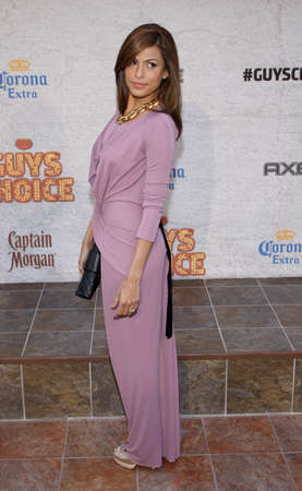 Eva Mendes at the 2011 Spike TVs Guys Choice Awards held at the Sony Studios in Culver City on June 4, 2011. Editorial