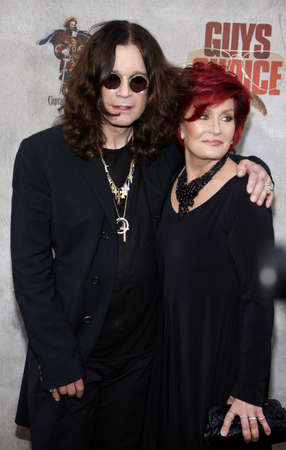 Ozzy Osbourne and Sharon Osbourne at the 2010 Spike TVs Guys Choice Awards held at the Sony Pictures Studios in Culver City on June 5, 2010.