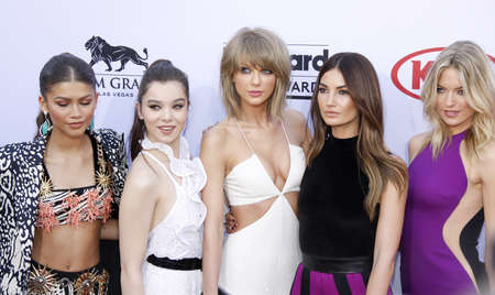martha: Hailee Steinfeld, Zendaya Coleman, Taylor Swift, Lily Aldridge and Martha Hunt at the 2015 Billboard Music Awards held at the MGM Garden Arena in Las Vegas, USA on May 17, 2015. Credit: Lumeimages.com