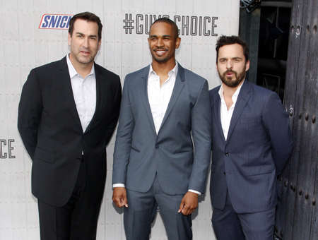rob: Jake Johnson, Damon Wayans Jr. and Rob Riggle at the Spike TVs Guys Choice 2014 held at the Sony Pictures Studios in Los Angeles on June 7, 2014 in Los Angeles, California. Credit: Lumeimages.com Editorial