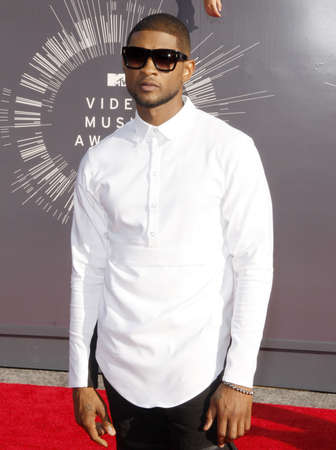usher: Usher at the 2014 MTV Video Music Awards held at the Forum in Los Angeles, USA on August 24, 2014.