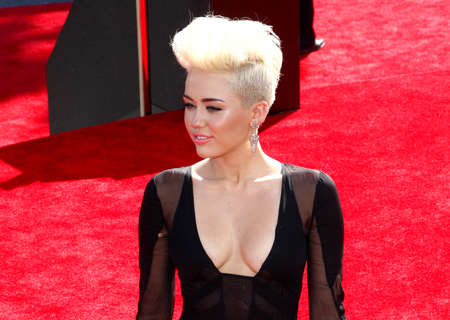 cyrus: Miley Cyrus at the 2012 MTV Video Music Awards held at the Staples Center in Los Angeles, United States on September 6, 2012. Credit: Lumeimages.com
