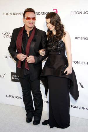 bono: Bono and Eve Hewson at the 21st Annual Elton John AIDS Foundation Academy Awards Viewing Party held at the Pacific Design Center in West Hollywood on February 24, 2013 in Los Angeles, California.