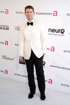 morrison: Matthew Morrison at the 21st Annual Elton John AIDS Foundation Academy Awards Viewing Party held at the Pacific Design Center in West Hollywood on February 24, 2013 in Los Angeles, California. Editorial