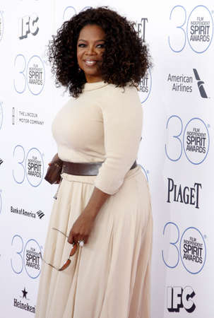 Oprah Winfrey at the 2015 Film Independent Spirit Awards held at the Santa Monica Beach in Santa Monica on February 21, 2015.