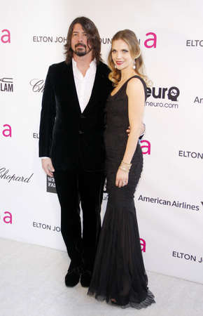 Dave Grohl and Jordyn Grohl at the 21st Annual Elton John AIDS Foundation Academy Awards Viewing Party held at the Pacific Design Center in West Hollywood on February 24, 2013 in Los Angeles, California. Editorial