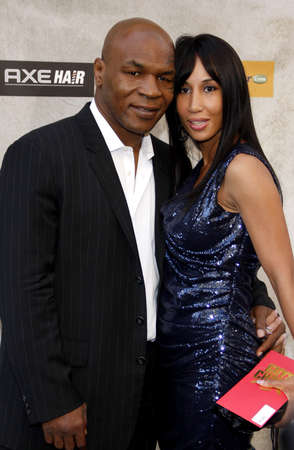 culver city: Mike Tyson and Lakhia Spicer at the 2010 Spike TVs Guys Choice Awards held at the Sony Pictures Studios in Culver City on June 5, 2010. Credit: Lumeimages.com Editorial