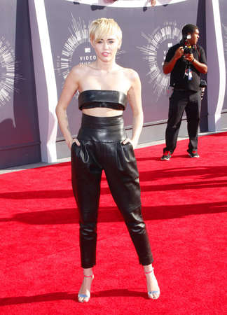 cyrus: Miley Cyrus at the 2014 MTV Video Music Awards held at the Forum in Los Angeles, USA on August 24, 2014.