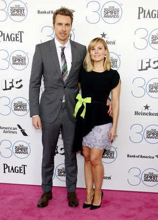shepard: Dax Shepard and Kristen Bell at the 2015 Film Independent Spirit Awards held at the Santa Monica Beach in Santa Monica on February 21, 2015. Credit: Lumeimages.com Editorial