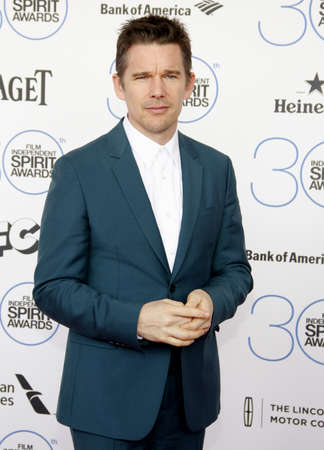 ethan: Ethan Hawke at the 2015 Film Independent Spirit Awards held at the Santa Monica Beach in Santa Monica on February 21, 2015. Credit: Lumeimages.com Editorial