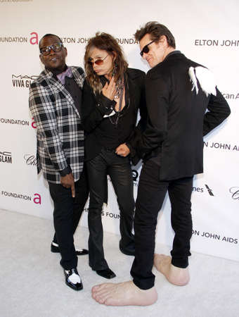 steven: Randy Jackson, Steven Tyler and Jim Carrey at the 21st Annual Elton John AIDS Foundation Academy Awards Viewing Party held at the Pacific Design Center in West Hollywood on February 24, 2013 in Los Angeles, California. Credit: Lumeimages.com Editorial
