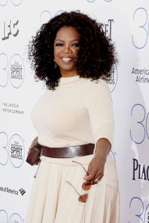 Oprah Winfrey at the 2015 Film Independent Spirit Awards held at the Santa Monica Beach in Santa Monica on February 21, 2015.
