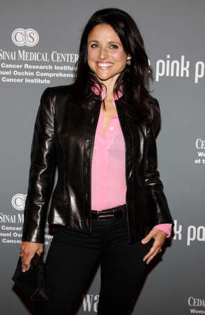 Julia Louis-Dreyfus at the 4th Annual Pink Party held at the Hangar 8 in Santa Monica on September 13, 2008. Editorial