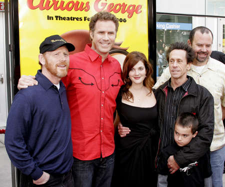 grazer: Ron Howard, Will Ferrell, Drew Barrymore and Brian Grazer attend the World Premiere of Curious George held at the ArcLight Cinemas in Hollywood, California on January 28, 2006.