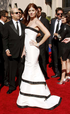 messing: Debra Messing attends the 59th Annual Primetime Emmy Awards held at the Shrine Auditorium in Los Angeles, California, United States on September 16, 2007. Editorial