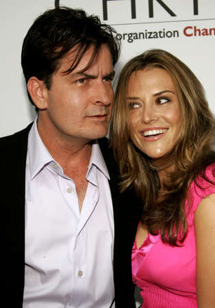 bel air: Charlie Sheen and Brooke Mueller at the Chrysalis 5th Annual Butterfly Ball held at the Italian Villa Carla & Fred Sands in Bel Air, USA on June 10, 2006.