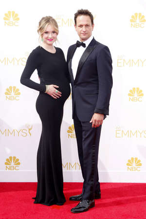 flack: Sophie Flack and Josh Charles at the 66th Annual Primetime Emmy Awards held at the Nokia Theatre L.A. Live in Los Angeles on August 25, 2014 in Los Angeles, California.