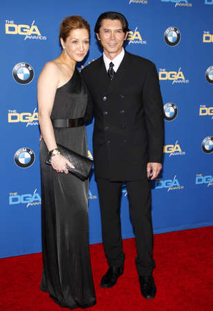 lou: Lou Diamond Phillips and Lisa McCune at the 67th Annual Directors Guild Of America Awards held at the Hyatt Regency Century Plaza in Century City on February 7, 2015. Editorial