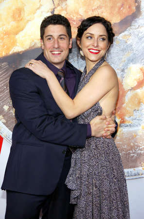 Jason Biggs and Jenny Mollen at the Los Angeles premiere of American Reunion held at the Graumans Chinese Theater in Hollywood, USA on March 19, 2012.