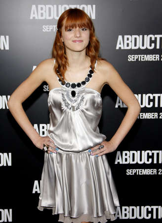 abduction: Bella Thorne at the Los Angeles premiere of Abduction held at the Graumans Chinese Theater in Los Angeles on September 15, 2011.