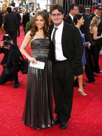 sheen: Brooke Mueller and Charlie Sheen at the 60th Primetime EMMY Awards held at the Nokia Theater in Los Angeles, California, United States on September 21, 2008. Editorial