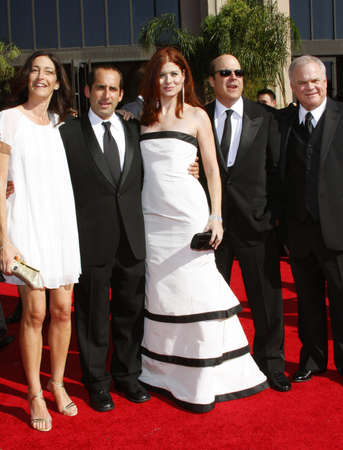 attend: Debra Messing and Starter Wife cast attend the 59th Annual Primetime Emmy Awards held at the Shrine Auditorium in Los Angeles, California, United States on September 16, 2007.