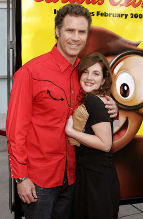 """attend: Will Ferrell and Drew Barrymore attend the World Premiere of """"Curious George"""" held at the ArcLight Cinemas in Hollywood, California on January 28, 2006."""