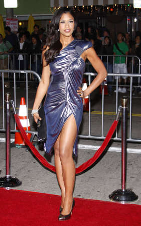 Kali Hawk at the Los Angeles premiere of Couples Retreat held at the Manns Village Theatre in Westwood on October 5, 2009. Редакционное