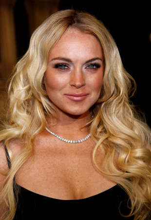Lindsay Lohan attends the Los Angeles Premiere of Cloverfield held at the Paramount Pictures Lot in Hollywood, California, United States on January 16, 2008.