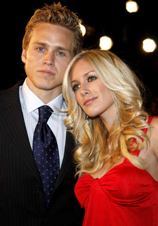 Spencer Pratt and Heidi Montag attend the Los Angeles Premiere of Cloverfield held at the Paramount Pictures Lot in Hollywood, California, United States on January 16, 2008. Editorial