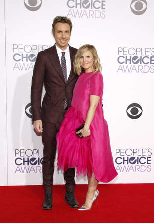 shepard: Dax Shepard and Kristen Bell at the 41st Annual Peoples Choice Awards held at the Nokia L.A. Live Theatre in Los Angeles on January 7, 2015. Editorial