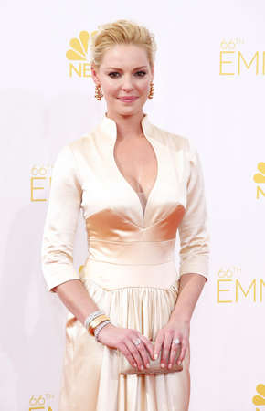 katherine: LOS ANGELES, CA - AUGUST 25, 2014: Katherine Heigl at the 66th Annual Primetime Emmy Awards held at the Nokia Theatre L.A. Live in Los Angeles, USA on August 25, 2014. Editorial