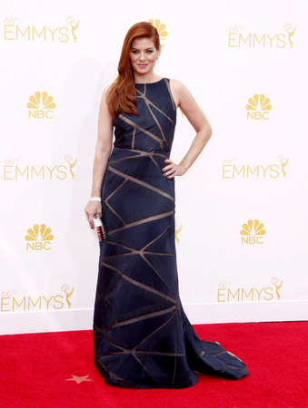 messing: Debra Messing at the 66th Annual Primetime Emmy Awards held at the Nokia Theatre L.A. Live in Los Angeles on August 25, 2014 in Los Angeles, California. Editorial