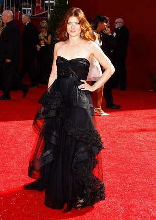 messing: Debra Messing at the 60th Primetime EMMY Awards held at the Nokia Theater in Los Angeles, California, United States on September 21, 2008. Editorial