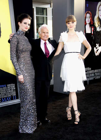 Richard D. Zanuck, Eva Green and Bella Heathcote at the Los Angeles premiere of Dark Shadows held at the Graumans Chinese Theatre in Hollywood, USA on May 7, 2012.