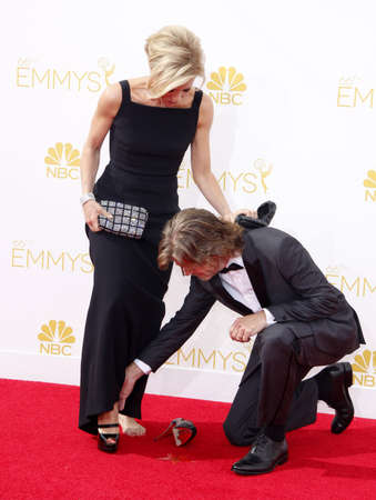 felicity: William H. Macy and Felicity Huffman at the 66th Annual Primetime Emmy Awards held at the Nokia Theatre L.A. Live in Los Angeles on August 25, 2014 in Los Angeles, California. Editorial