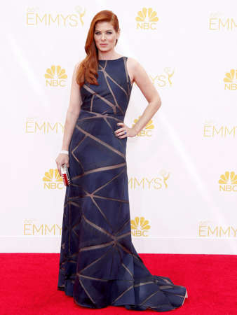 messing: LOS ANGELES, CA - AUGUST 25, 2014: Debra Messing at the 66th Annual Primetime Emmy Awards held at the Nokia Theatre L.A. Live in Los Angeles, USA on August 25, 2014. Editorial