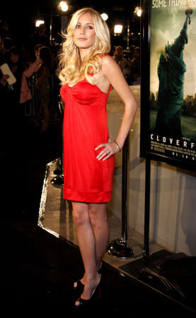 Montag: Heidi Montag attends the Los Angeles Premiere of Cloverfield held at the Paramount Pictures Lot in Hollywood, California, United States on January 16, 2008. Editorial