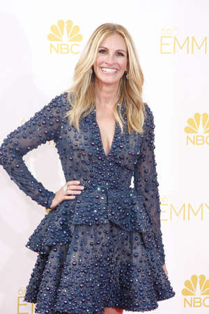 roberts: Julia Roberts at the 66th Annual Primetime Emmy Awards held at the Nokia Theatre L.A. Live in Los Angeles on August 25, 2014 in Los Angeles, California. Editorial