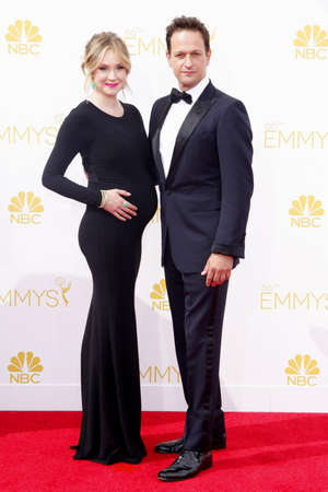 flack: LOS ANGELES, CA - AUGUST 25, 2014: Sophie Flack and Josh Charles at the 66th Annual Primetime Emmy Awards held at the Nokia Theatre L.A. Live in Los Angeles, USA on August 25, 2014. Editorial